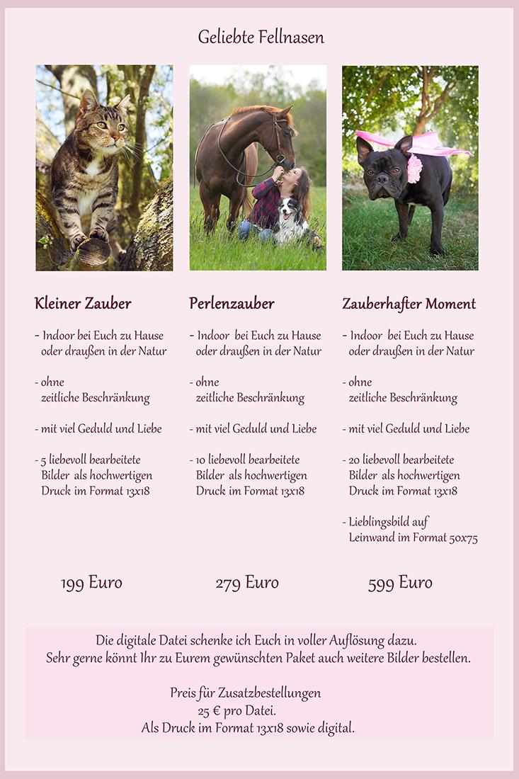 Informationen und Preise Tiere